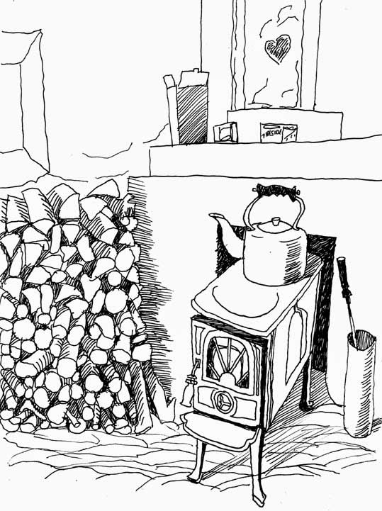 Ierland Last year's wood is for the stove - Peti Buchel