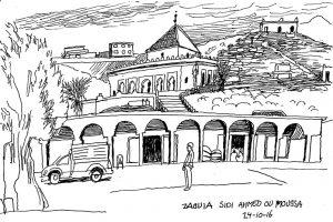historische strip. de tranen van Illigh. De Zaouia van Sidi Ahmed Ou Moussa de stichter van het Huis van Iligh